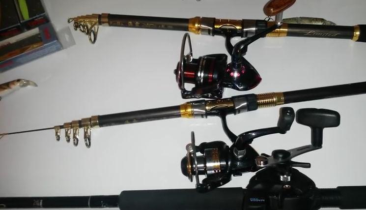partes de una caña de pesca