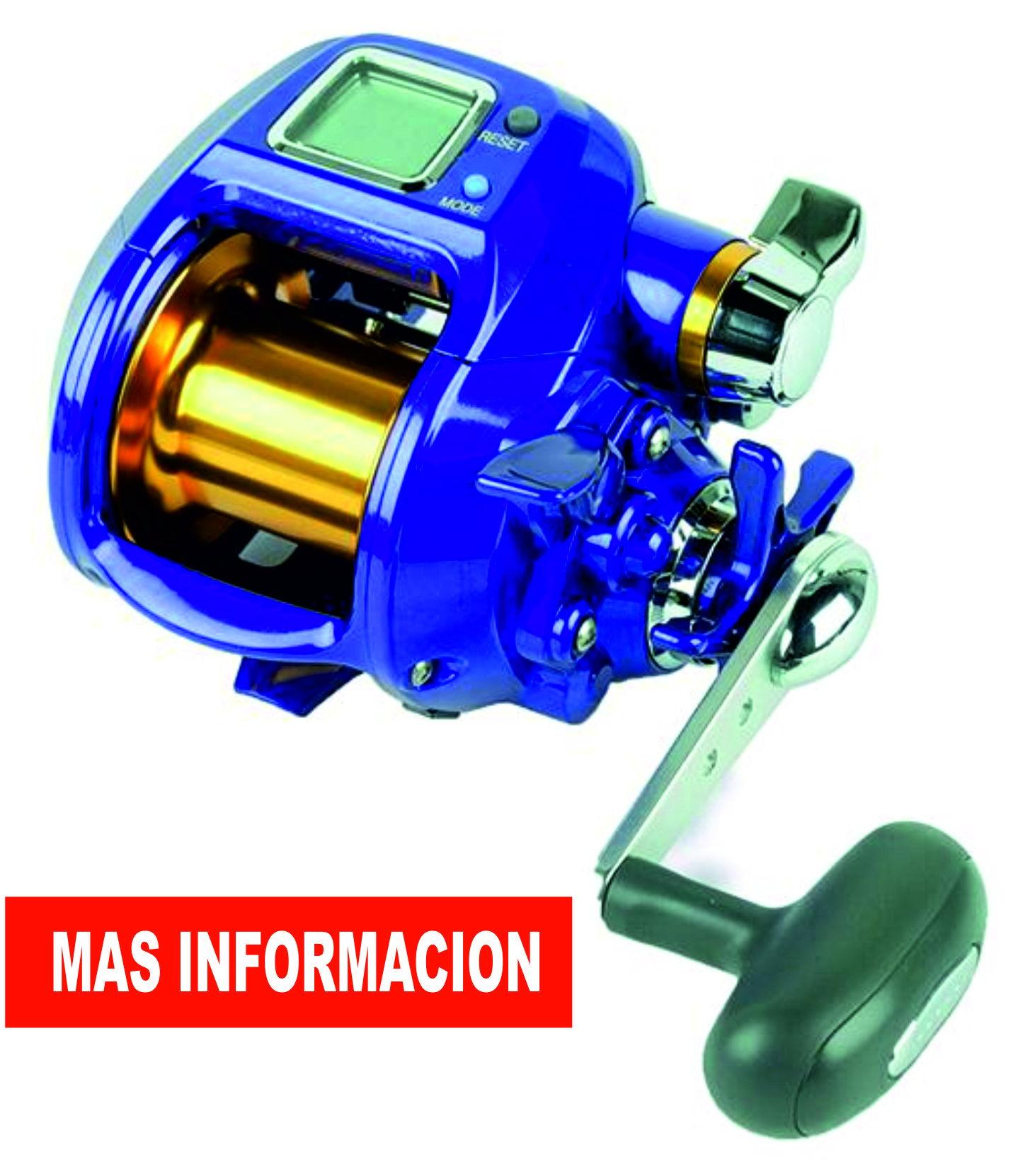 información carretes eléctricos pesca